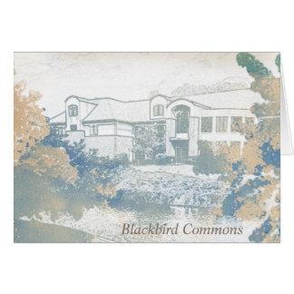 Tarjetas de nota originales de los campos comunes