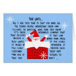 Tarjetas de nota peculiares y divertidas del navid