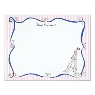 Tarjetas de nota personalizadas banales de París Invitacion Personal