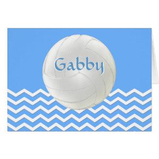 Tarjetas de nota personalizadas del voleibol de