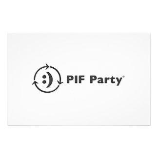 Tarjetas de nota PIF del fiesta Personalized Stationery