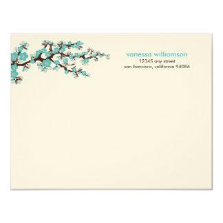 """Tarjetas de nota planas de encargo de las flores invitación 4.25"""" x 5.5"""""""