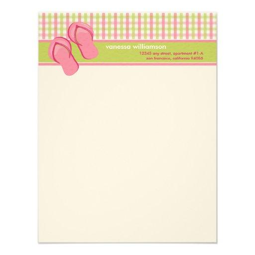 Tarjetas de nota planas de encargo de los flips-fl comunicado personal