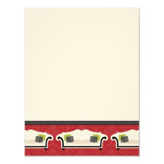 """Tarjetas de nota planas de la decoración elegante invitación 4.25"""" x 5.5"""""""