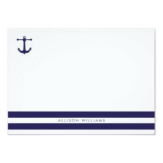 Tarjetas de nota planas de la marina de guerra invitación 11,4 x 15,8 cm