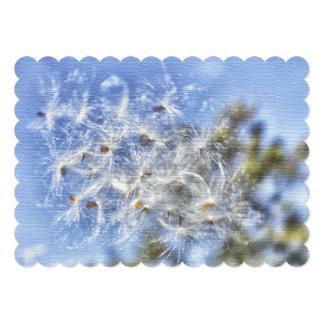 Tarjetas de nota planas de la seda del Milkweed Comunicado
