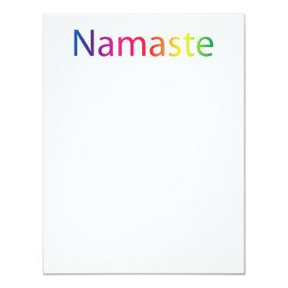 Tarjetas de nota planas de Namaste Anuncio