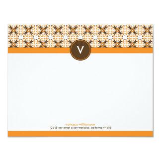 """Tarjetas de nota planas decorativas de moda invitación 4.25"""" x 5.5"""""""