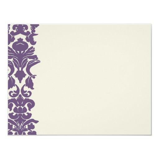 """Tarjetas de nota planas del diseño púrpura del invitación 4.25"""" x 5.5"""""""
