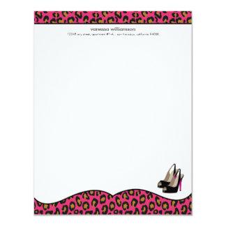 """Tarjetas de nota planas elegantes del fashionista invitación 4.25"""" x 5.5"""""""