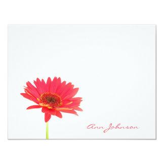 """Tarjetas de nota planas florales personalizadas de invitación 4.25"""" x 5.5"""""""
