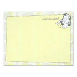 """Tarjetas de nota planas personalizadas comidilla invitación 4.25"""" x 5.5"""""""