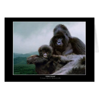 Tarjetas de nota PRECIOSAS del gorila de Mtn del ~