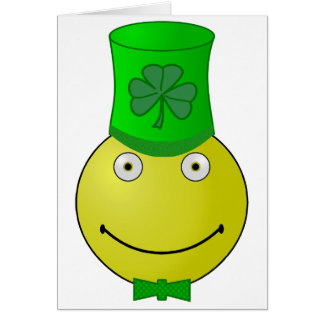 Tarjetas de nota sonrientes del día de St Patrick