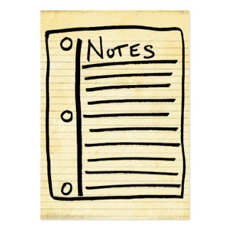 Tarjetas de nota tarjeta personal