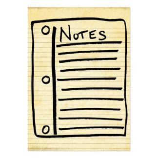 Tarjetas de nota tarjetas de visita grandes