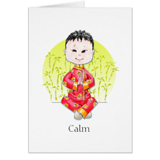 Tarjetas de nota tranquilas del muchacho de China