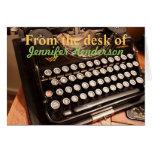Tarjetas de nota viejas de Typewritter