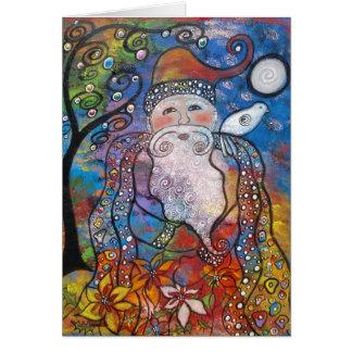 Tarjetas de nota viejas del navidad del St. Nick