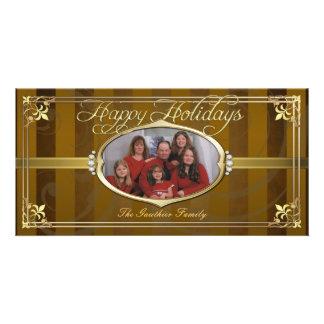 Tarjetas de oro de la foto de la joya de la tela a tarjetas fotográficas