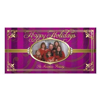 Tarjetas de oro de la foto de la joya de la tela a tarjetas con fotos personalizadas