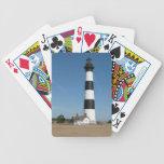 Tarjetas de Outer Banks NC del faro de la isla de  Cartas De Juego