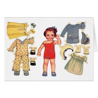 Tarjetas de papel de la muñeca de la muñeca
