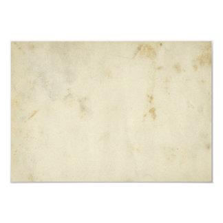 """Tarjetas de papel envejecidas espacio en blanco invitación 3.5"""" x 5"""""""
