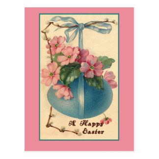 Tarjetas de pascua del vintage de las flores y del postales