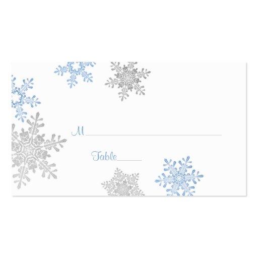Tarjetas de plata azules del lugar del boda del in tarjetas de visita