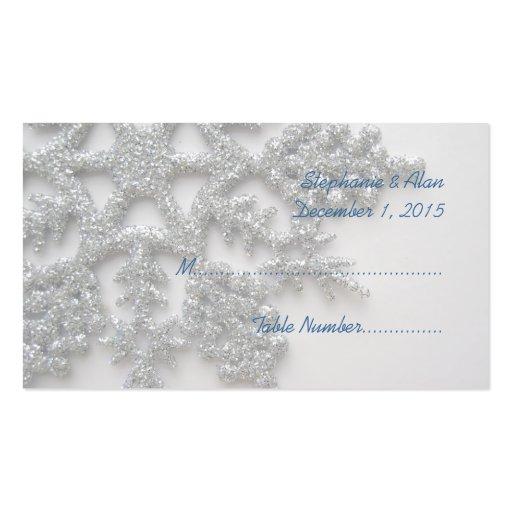 Tarjetas de plata del lugar del boda del copo de tarjetas de visita