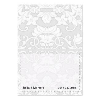 Tarjetas de plata del lugar del damasco tarjetas de visita