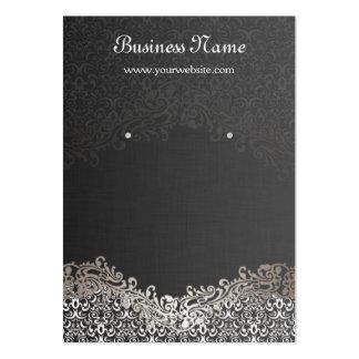 Tarjetas de plata elegantes de la exhibición del tarjetas de visita grandes