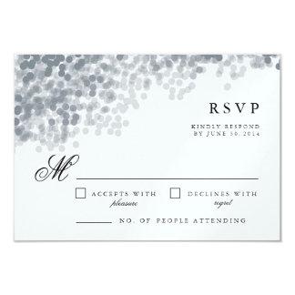 Tarjetas de plata grises de la respuesta de RSVP Invitación 8,9 X 12,7 Cm