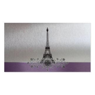 Tarjetas de plata púrpuras del registro de regalos tarjetas personales