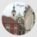 Tarjetas de Praga Etiquetas Redondas