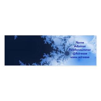 Tarjetas de presentación azules fraktal plantillas de tarjetas personales