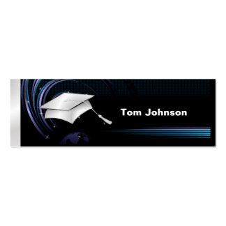 Tarjetas de presentación de la graduación - azul y plantillas de tarjetas personales