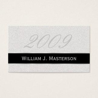 Tarjetas de presentación de la graduación - gris y tarjetas de visita