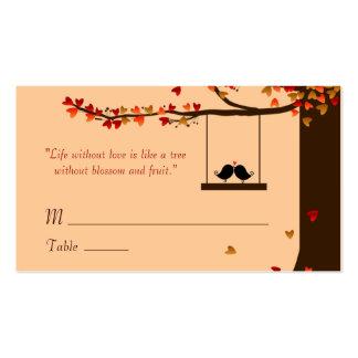 Tarjetas de presentación del roble de los tarjetas de visita