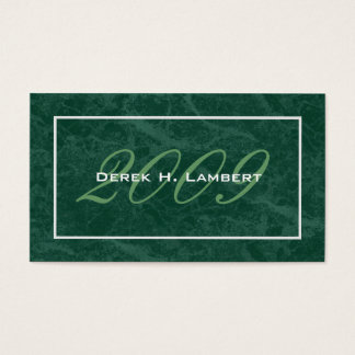 Tarjetas de presentación elegantes de la tarjetas de visita