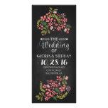 tarjetas de programa florales del boda de la pizar