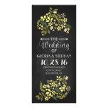 tarjetas de programa florales del boda de la pizar lona