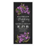 tarjetas de programa florales del boda de la pizar tarjeta publicitaria personalizada