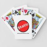 Tarjetas de radio estáticas baraja cartas de poker