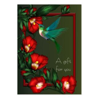 Tarjetas de regalo de los vales del colibrí del hi tarjetas de visita