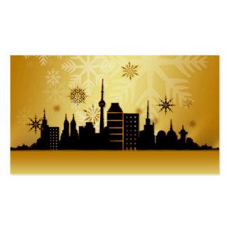 Tarjetas de regalo del navidad del oro tarjetas de visita