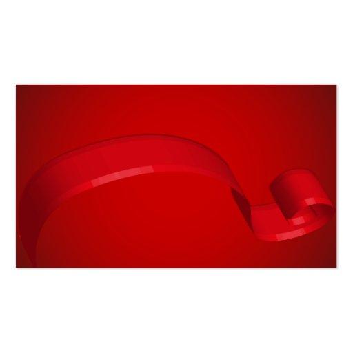Tarjetas de regalo rojas simples de la cinta tarjetas de visita