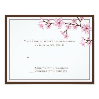 """Tarjetas de RSVP de la flor de cerezo Invitación 4.25"""" X 5.5"""""""