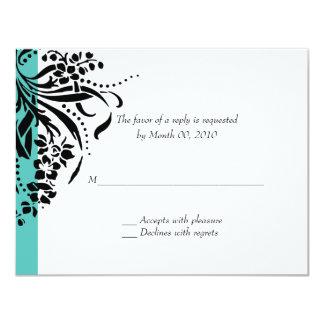 Tarjetas de RSVP de la invitación del boda de la
